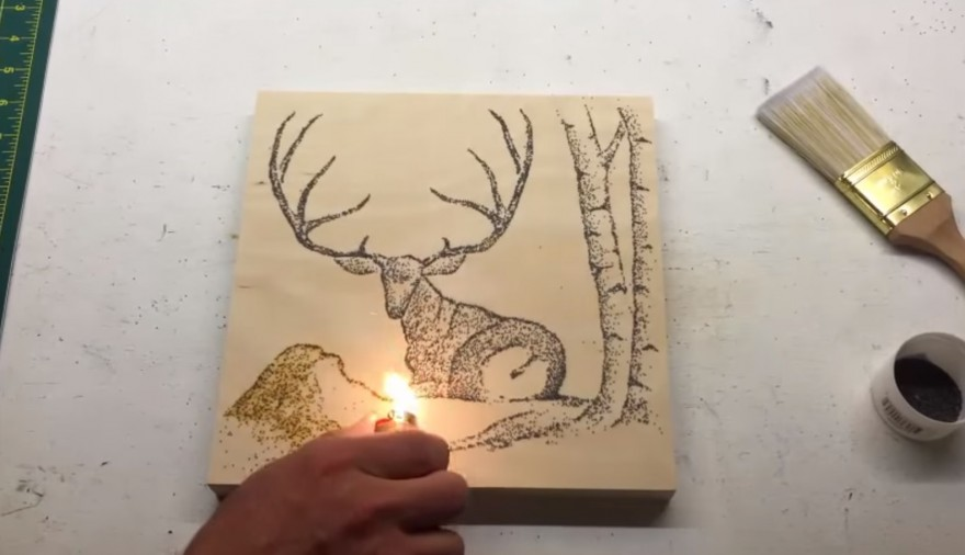 painting with gunpowder and fire