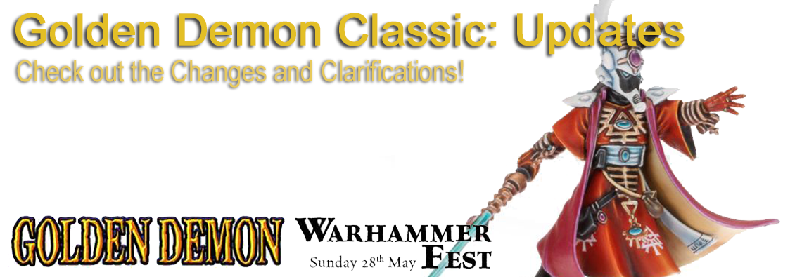 Golden Demon Classic 2017 rules and clarifications