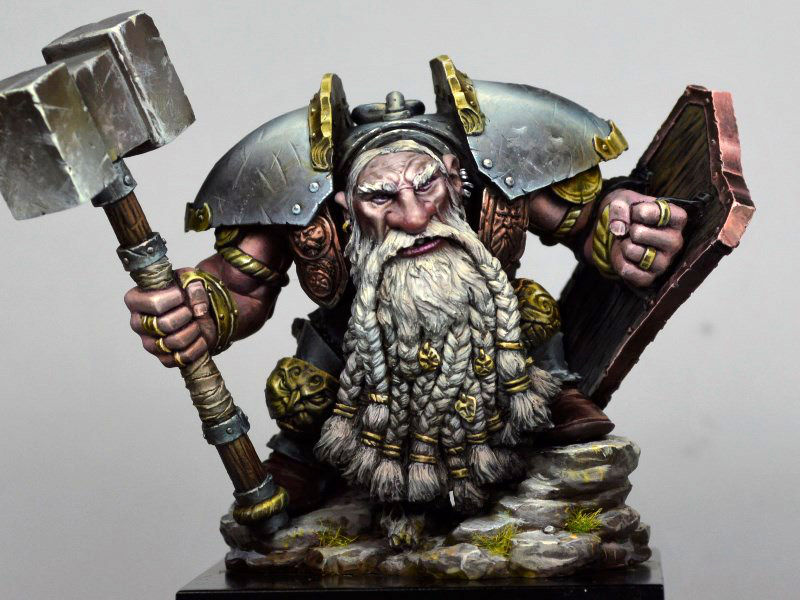 Nythgor tutorial: how I painted the dwarf from Hera Models - volomir.com